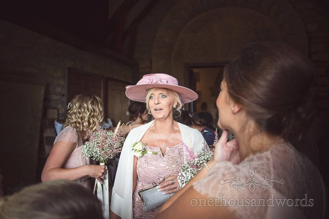 Mother of the bride in pink hat from Best wedding photographs of 2017