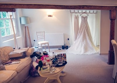Avon Suite bridal preparation rooms at Sopley Mill Wedding on wedding morning