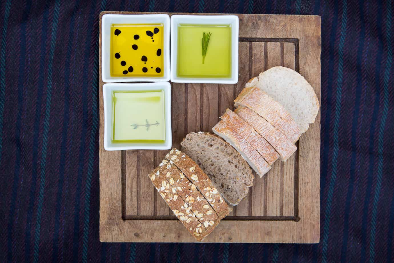 Home made bread and oils from Plush Manor Wedding Breakfast Catering