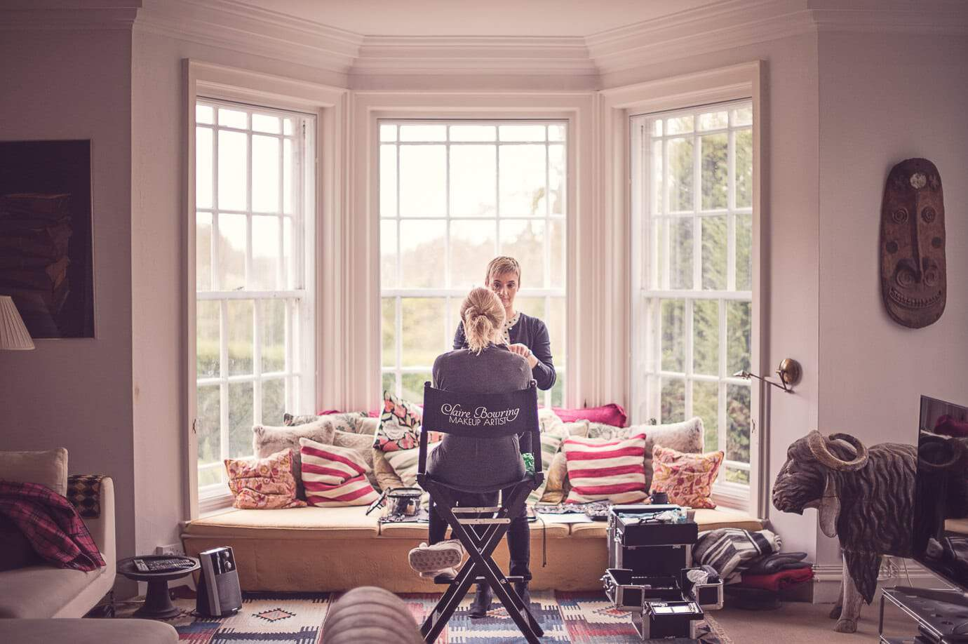 Plush Manor wedding photographers capture Wedding make up artist in Dorset