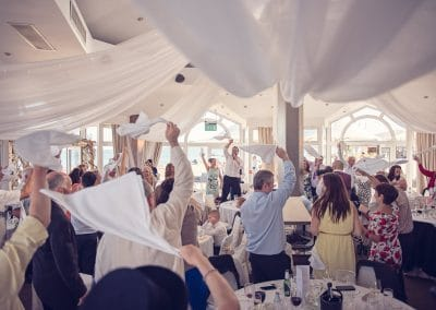 Sandbanks Hotel Wedding Entertainment in Compass Room at Dorset wedding venue
