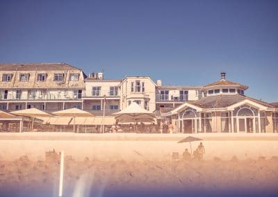 Sandbanks Hotel Wedding venue next to sandy beach in Dorset photographs