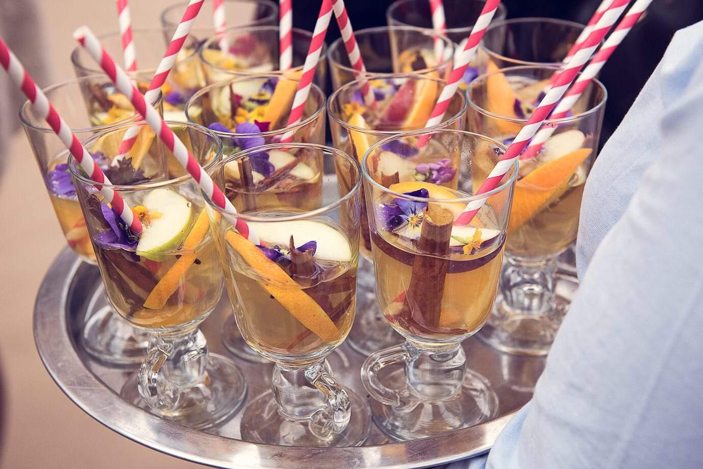 Spiced Christmas drinks at Plush Manor wedding drinks reception