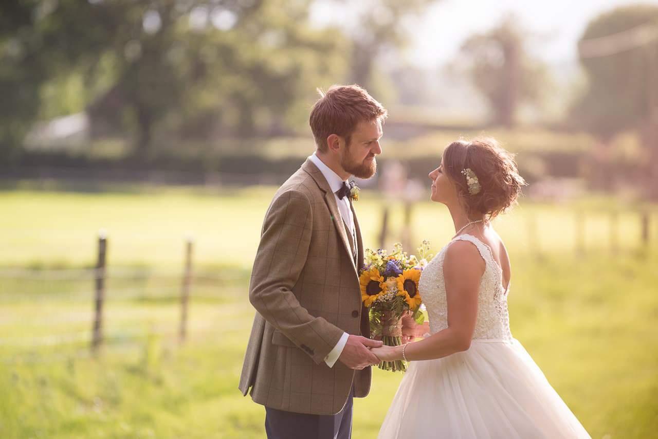 Stockbridge Farm Barn wedding photographers capture bride and groom