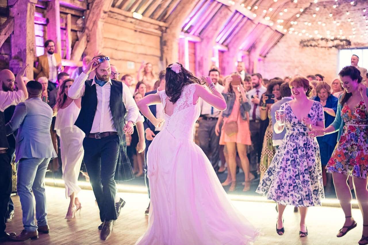 Stockbridge Farm Barn wedding photographers capture wedding dancing