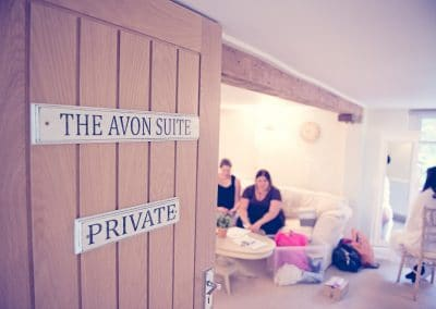 The Avon Suite bridal preparation rooms at Sopley Mill wedding venue in Dorset