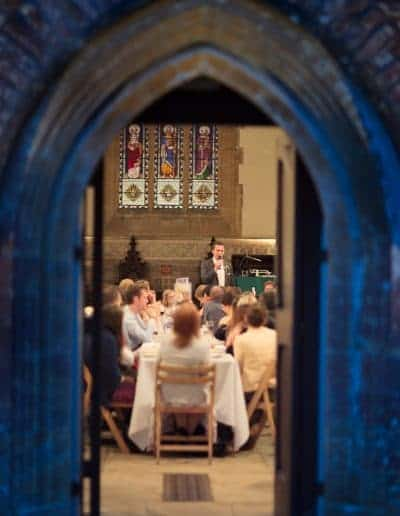 Wedding speeches in Plush Manor church by one thousand words photography