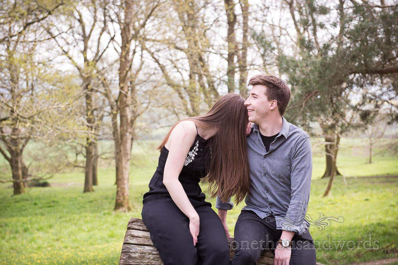 Oh my god you are just too funny at Badbury Rings Engagement Photographs