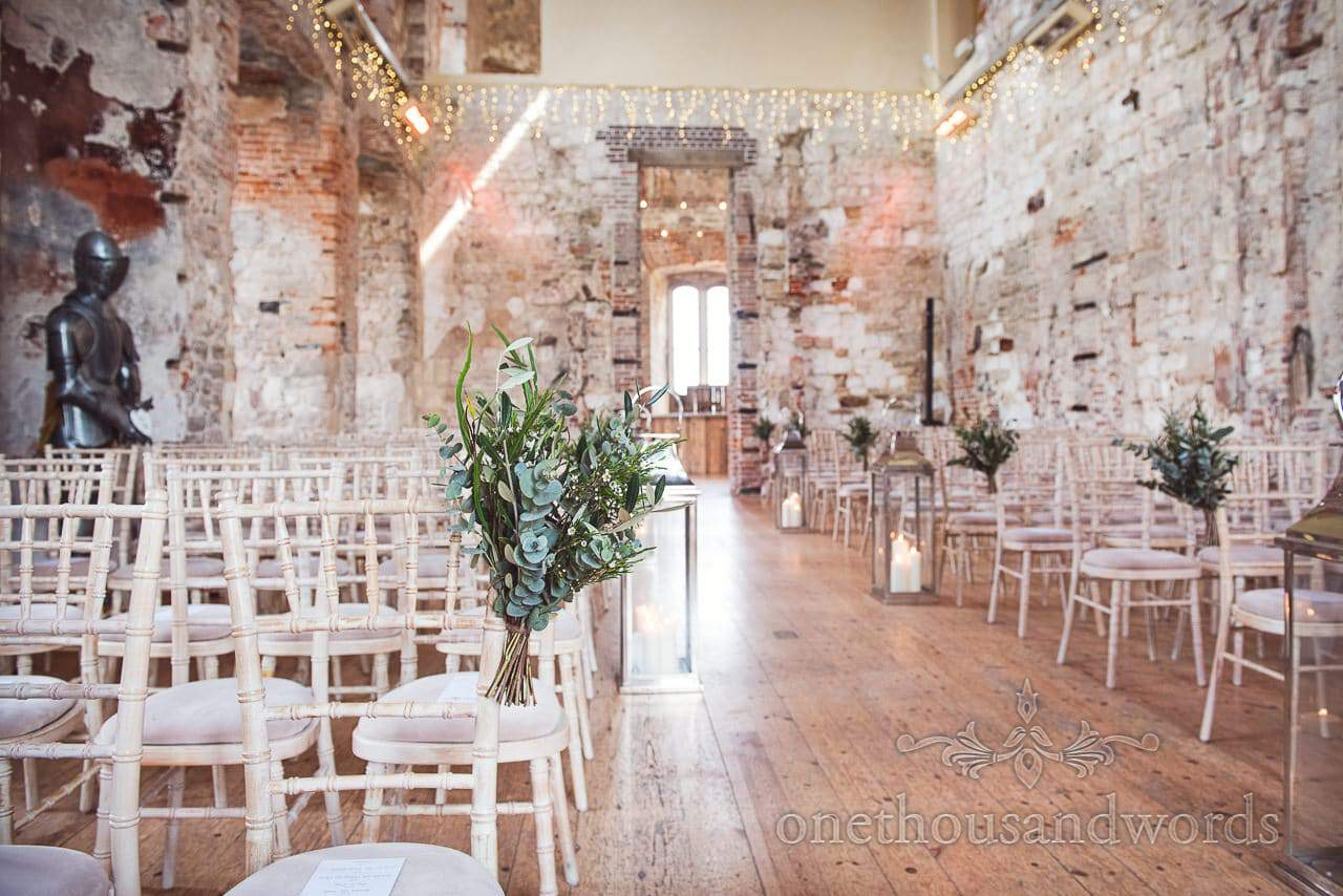 Dinning room ready for ceremony at Lulworth Castle Wedding Photos