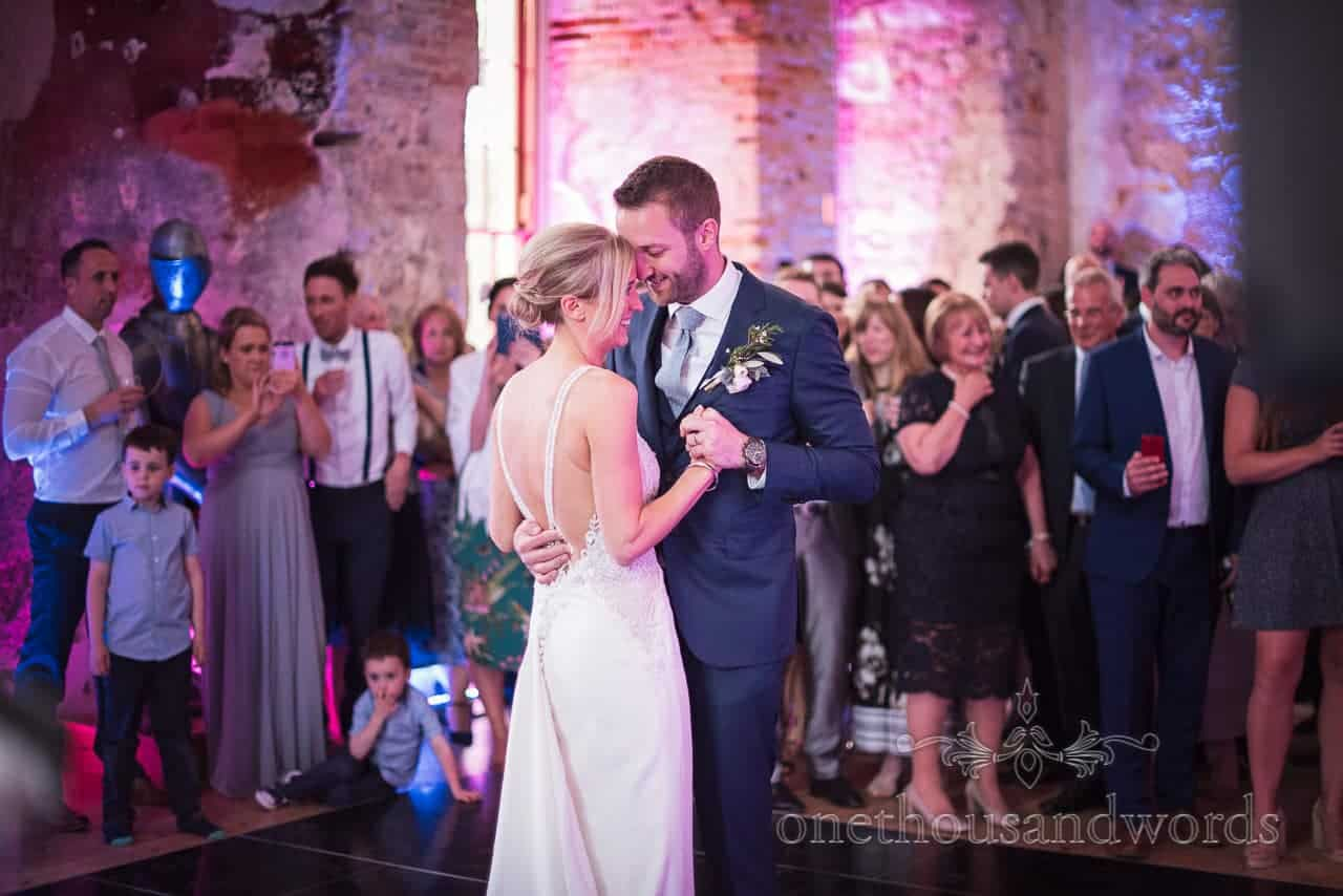First dance wedding photograph at Lulworth Castle Wedding venue in Dorset