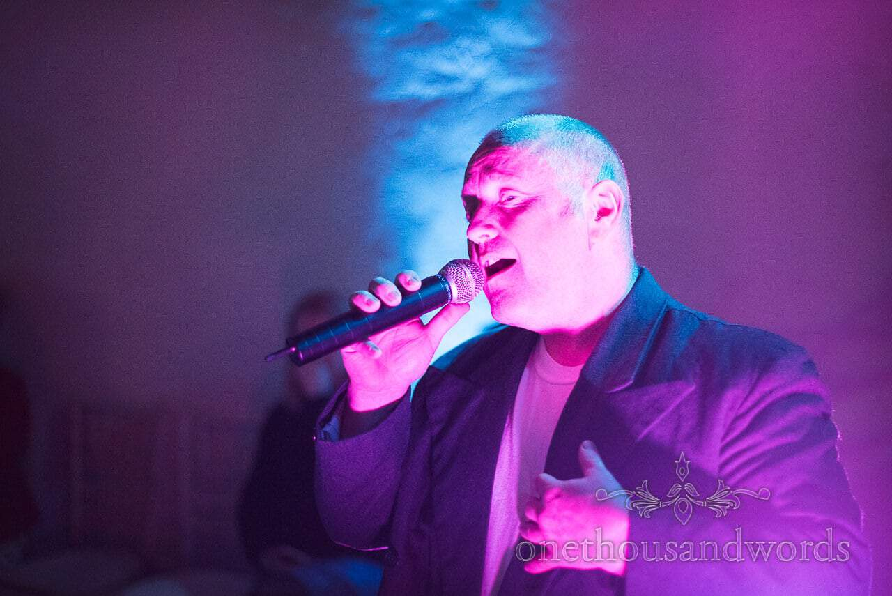 Andrew James professional Phil Collins act at Walton Castle wedding