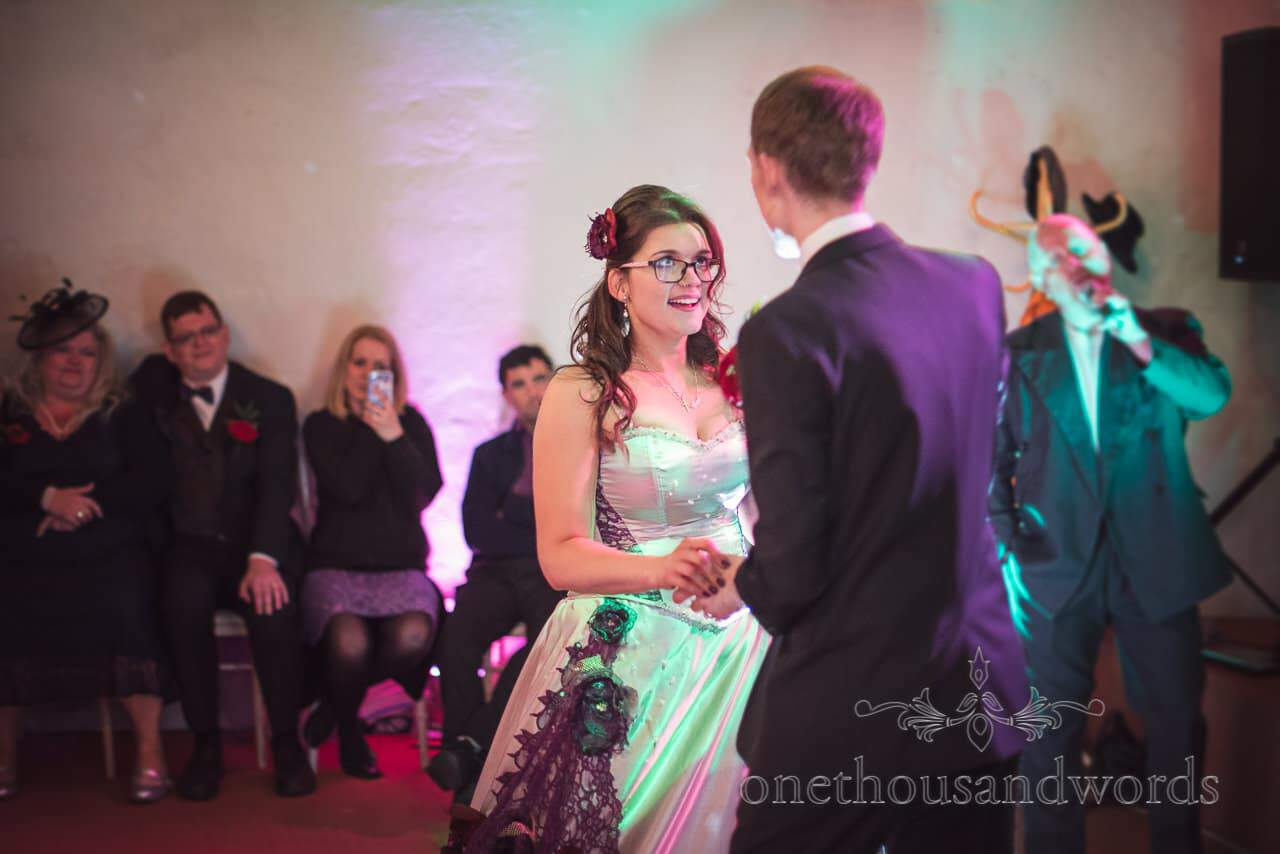 Bride and groom dance to Phil Collins tribute at for wedding first dance