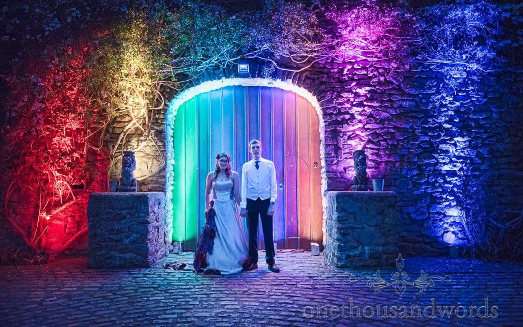 Chocolate Themed Wedding Photographs at Walton Castle Wedding