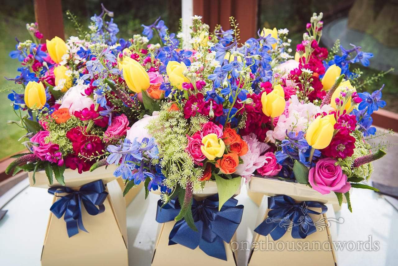 Bright and colorful bouquets from Countryside Wedding Photos