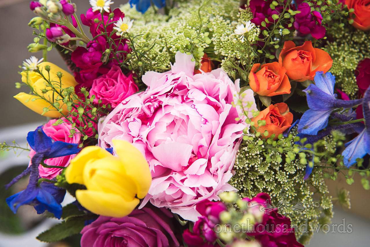 Bright multi colored flowers from Countryside Wedding Photos