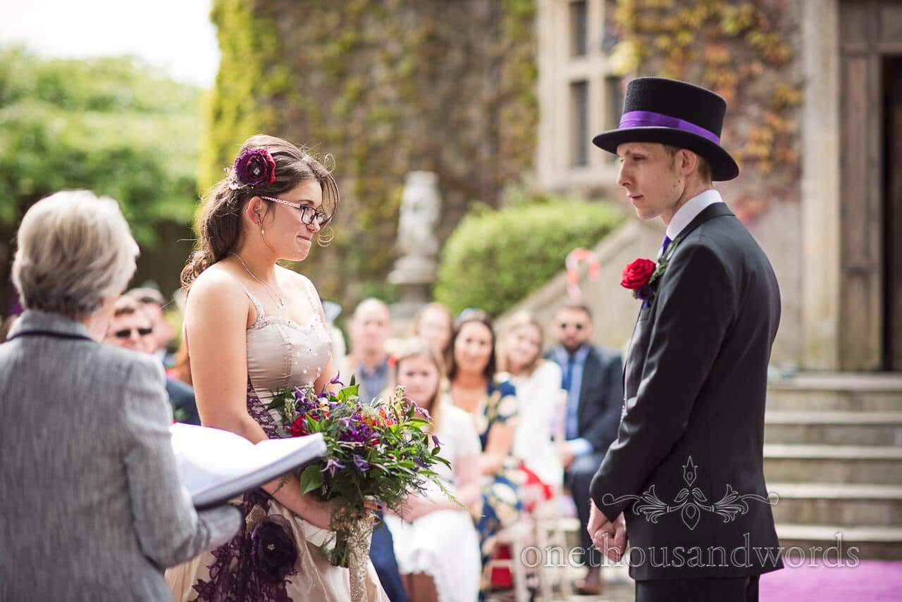 Chocolate Themed Wedding ceremony at Walton Castle wedding venue