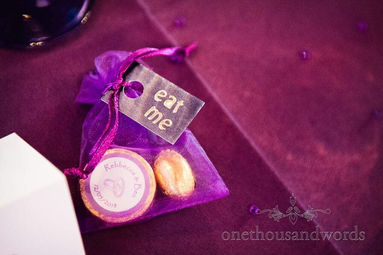 Edible wedding favors from Chocolate Themed Wedding Photographs