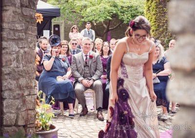 Emotional wedding guests cry during Walton Castle wedding ceremony