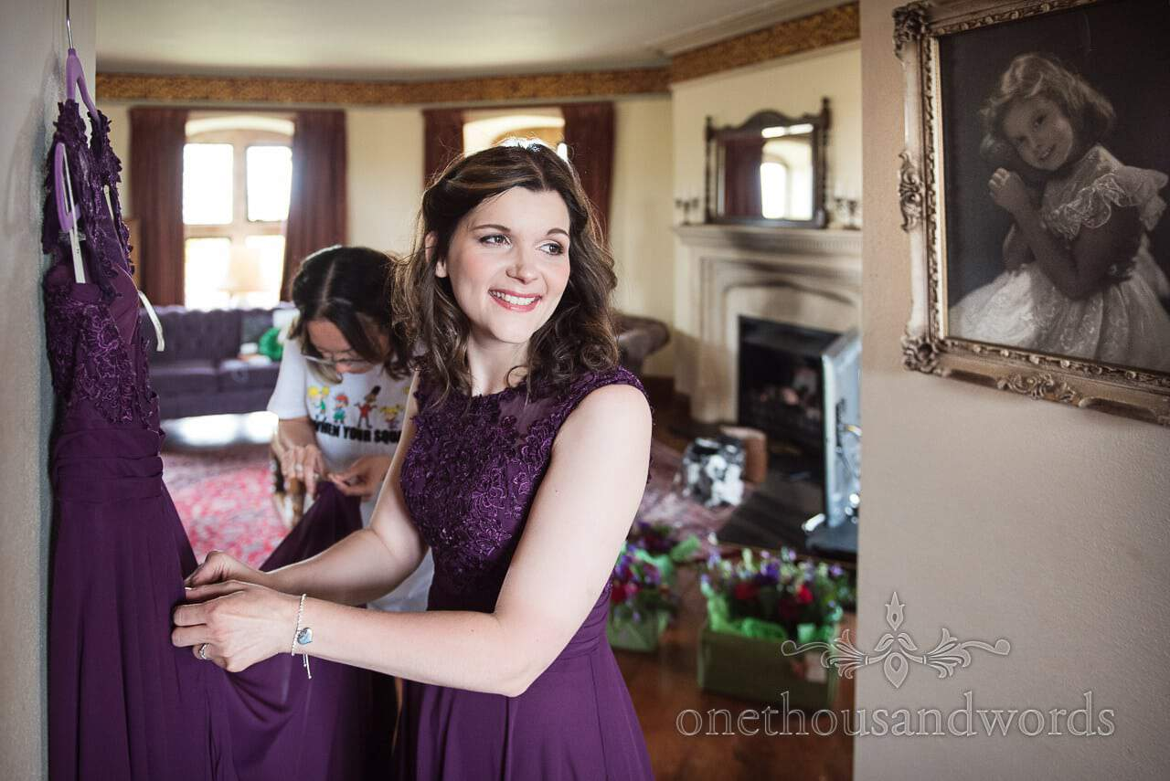 Maid of honour and bridesmaid on morning of Chocolate Themed Wedding Photographs