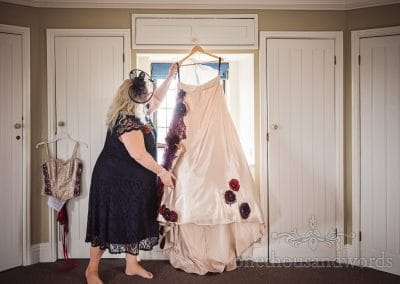 Mother of the bride with wedding dress from Chocolate Themed Wedding Photographs