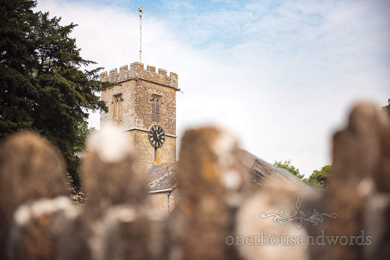 Symonsbury church over the wall from Countryside Wedding Photos