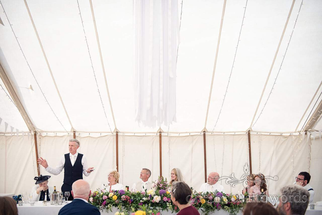 Best man delivers speech at Countryside Manor House Wedding