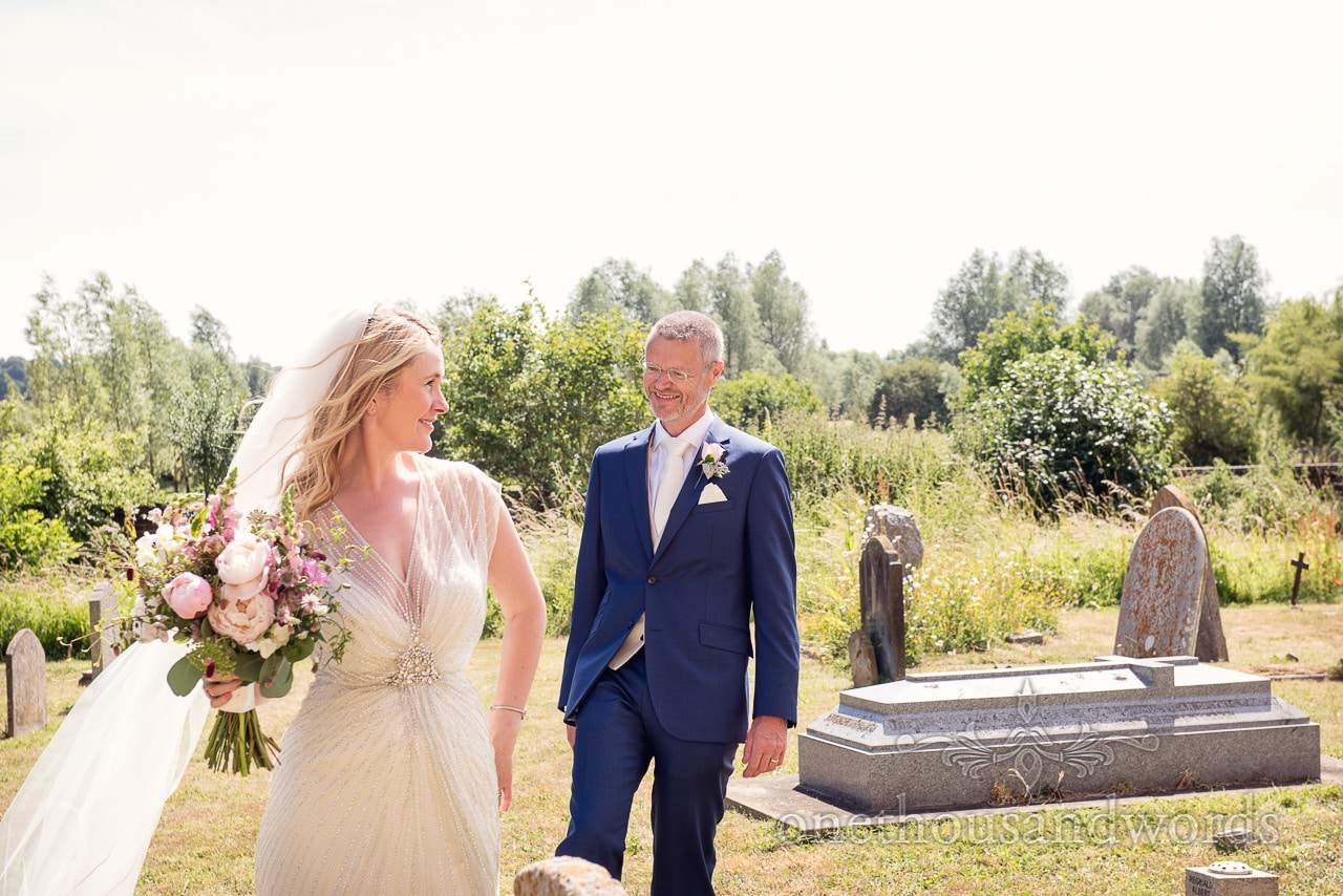 Bride and groom in the sunshine from Countryside Manor House Wedding