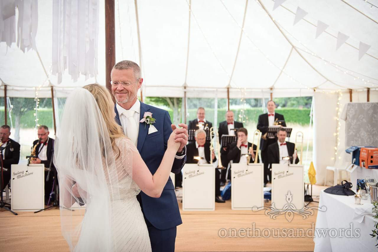 Bride and grooms first dance from Countryside Manor House Wedding