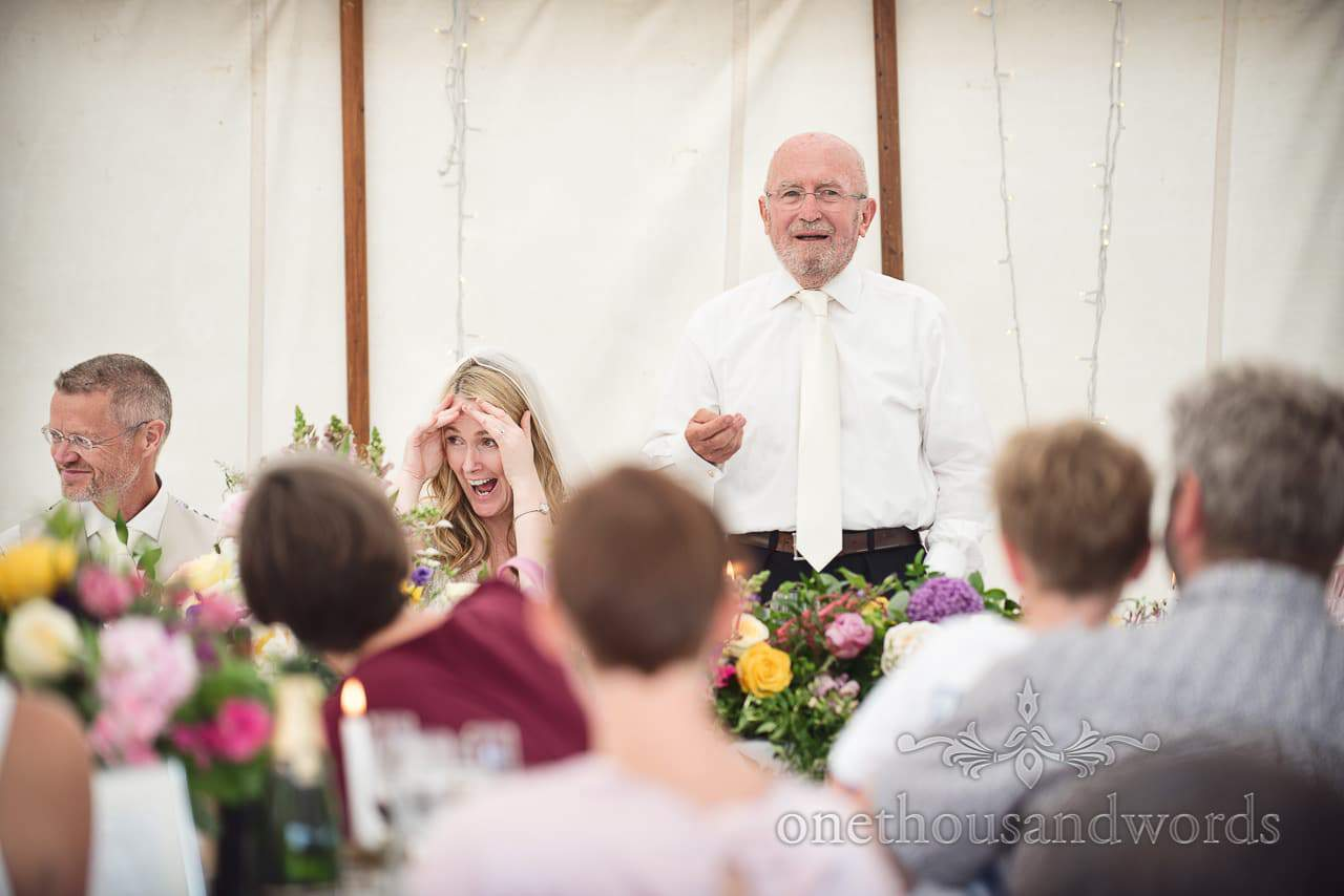 Father of the bride speech at countryside wedding