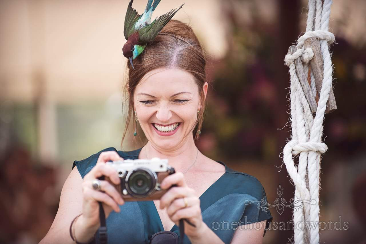 Guest photographer takes picture at Countryside Manor House Wedding