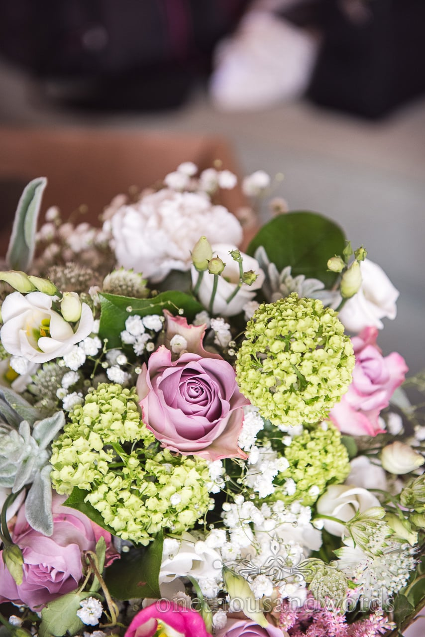 Purbeck Valley Farm Wedding Photographs of Floral bridal bouquet