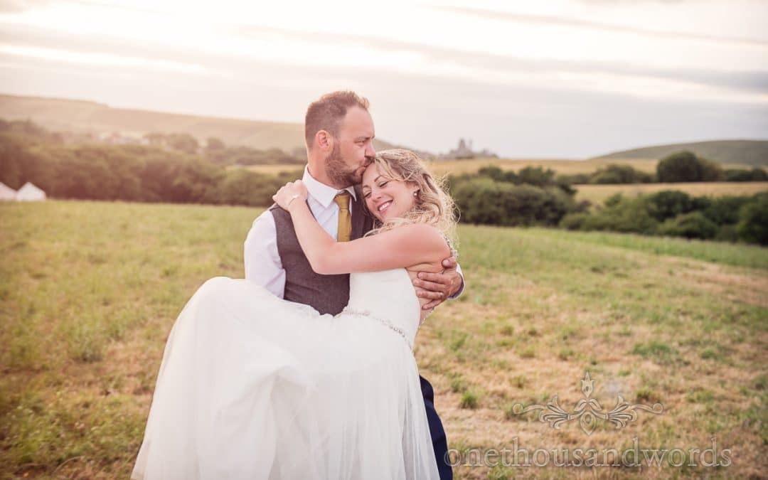 Purbeck Valley Farm wedding photos in Dorset with Claire and Shaun