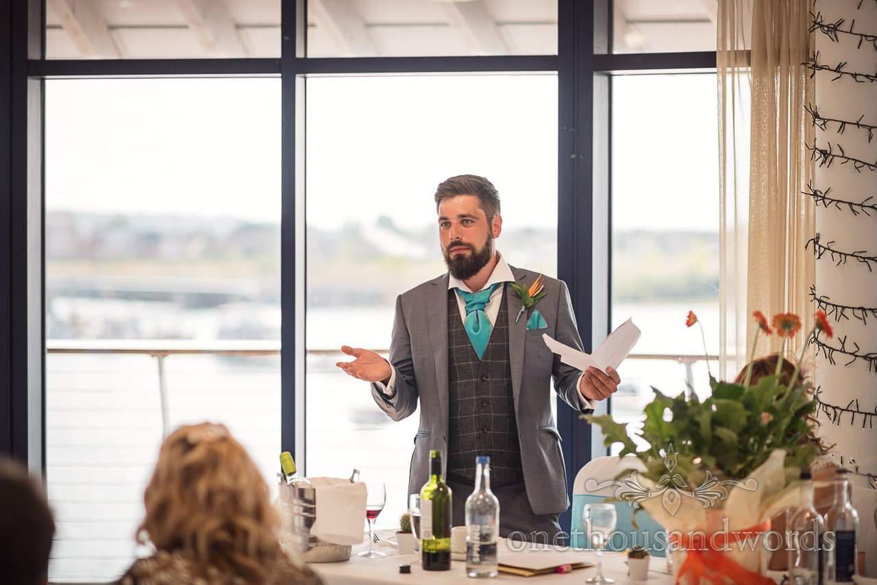 Best man at RNLI College Wedding delivers best man's speech