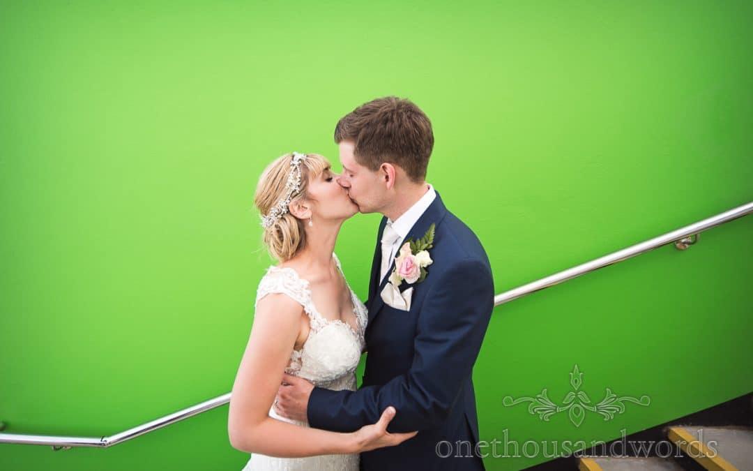 Harmans Cross Village Hall Wedding Photographs with Sarah and Daniel