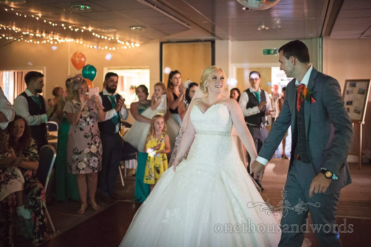 Bride and groom take to the dance floor at RLNI College Wedding venue