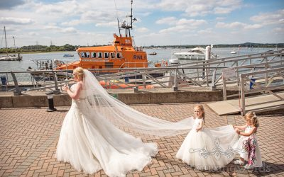 RNLI College wedding photographs with Kate and Matthew