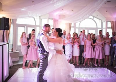 First dance at Sandbanks Hotel Compass Room Wedding Photographs