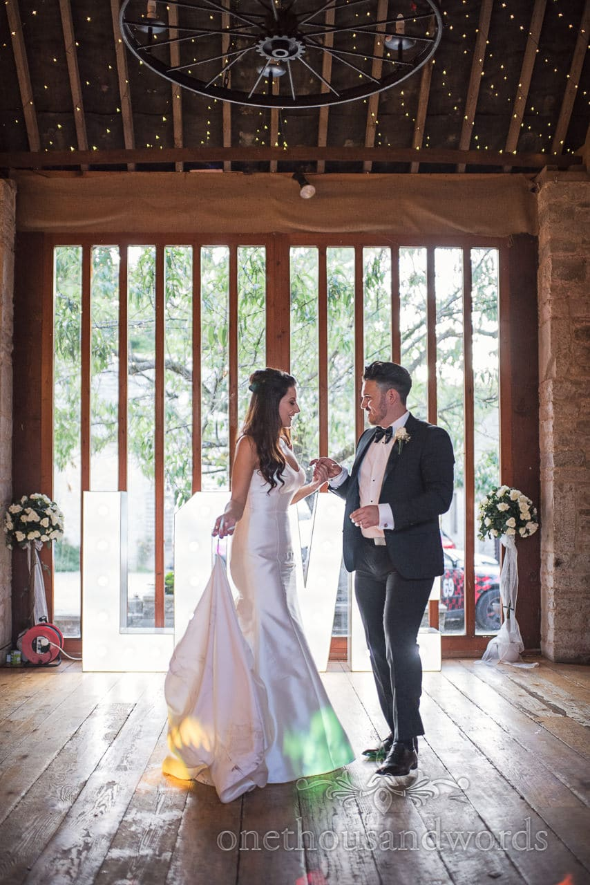 New Mr and Mrs first dance at Country Courtyard Wedding
