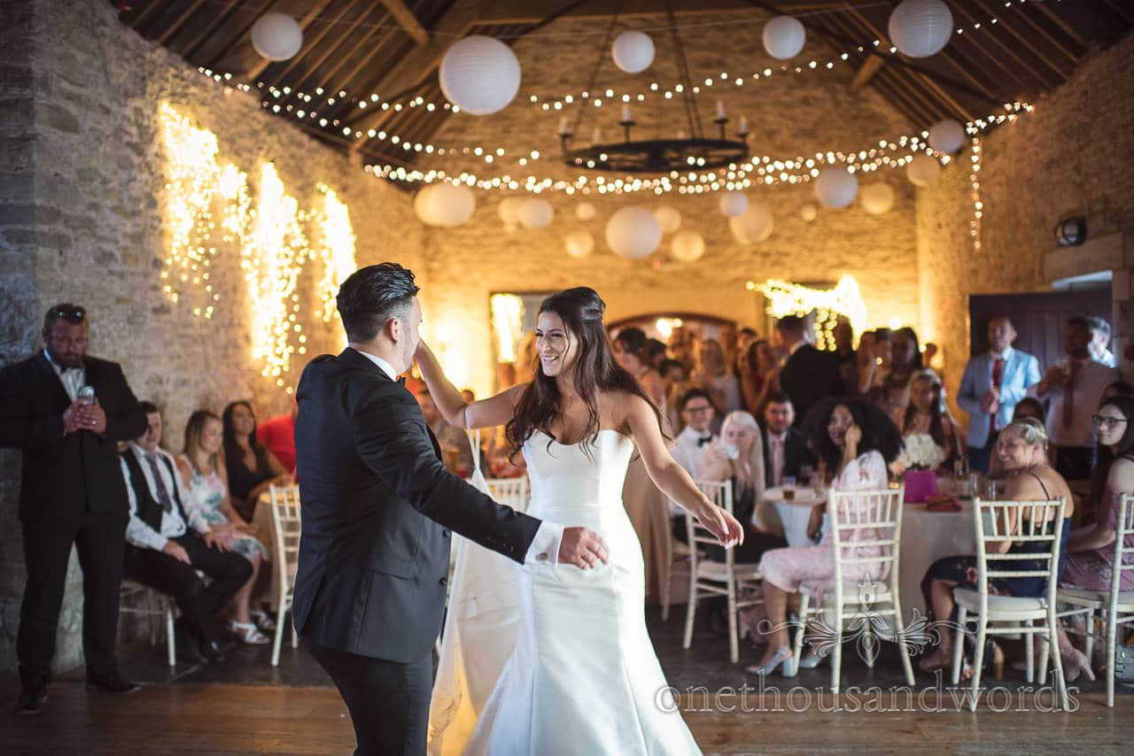 New Mr and Mrs rocking the dance floor at Country Courtyard Wedding