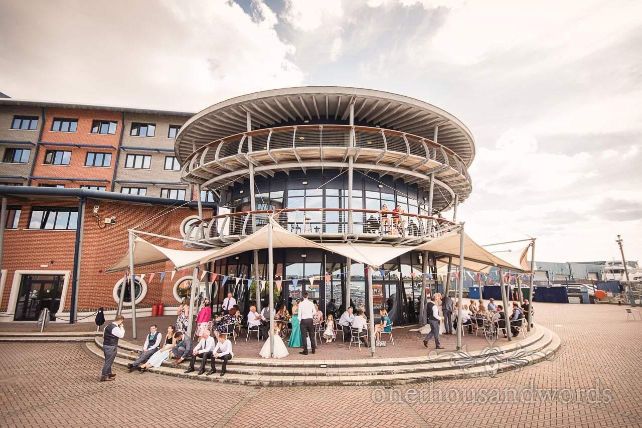 RNLI College circular restaurant and function room Wedding venue in Poole, Dorset
