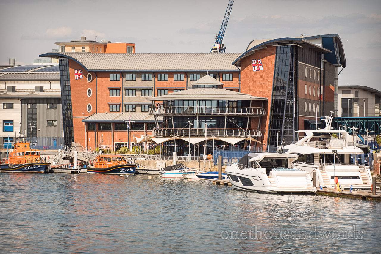 RNLI College Wedding venue in Poole, Dorset photographs by one thousand words