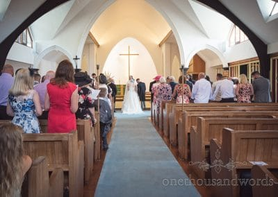 Sandbanks Church Wedding ceremony in Poole, Dorset Photographs