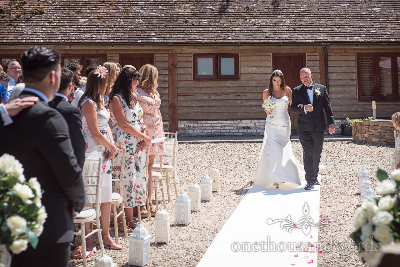 That first look from Country Courtyard Wedding