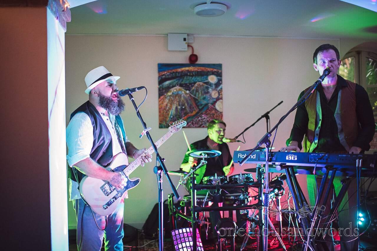 BB3 wedding band play live music at The Italian Villa wedding venue in Dorset