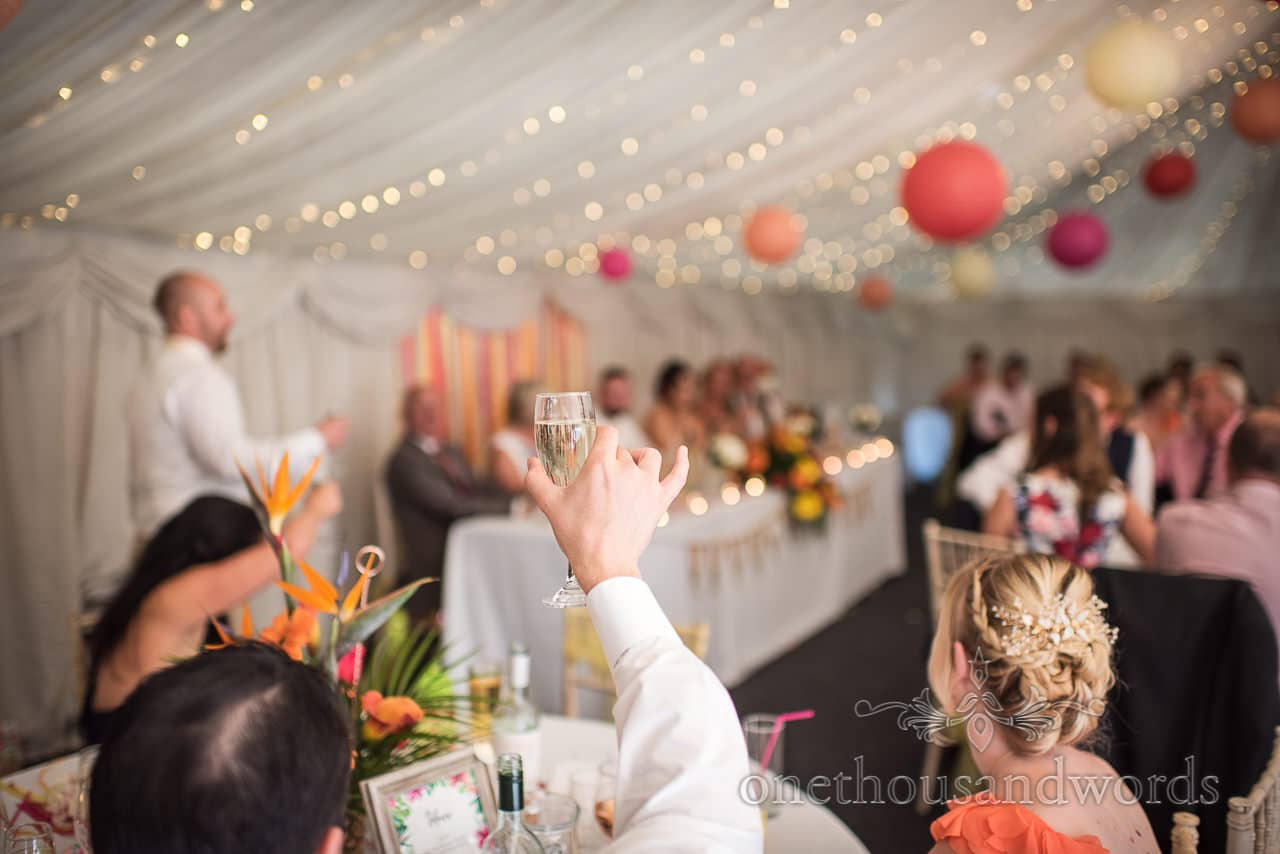 Best man calls on guests to raise a toast at The Old Vicarage Wedding