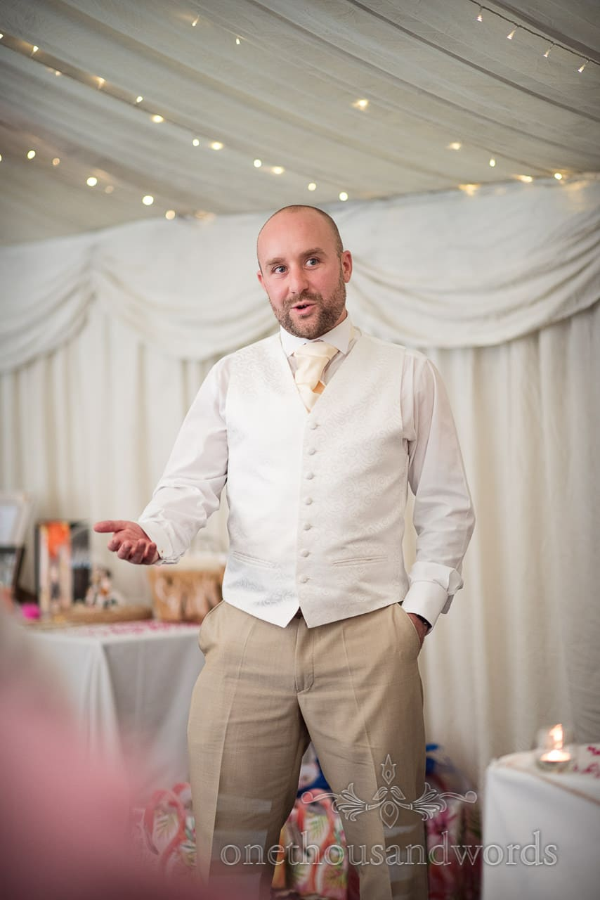 Best man delivers speech at The Old Vicarage Wedding Photographs