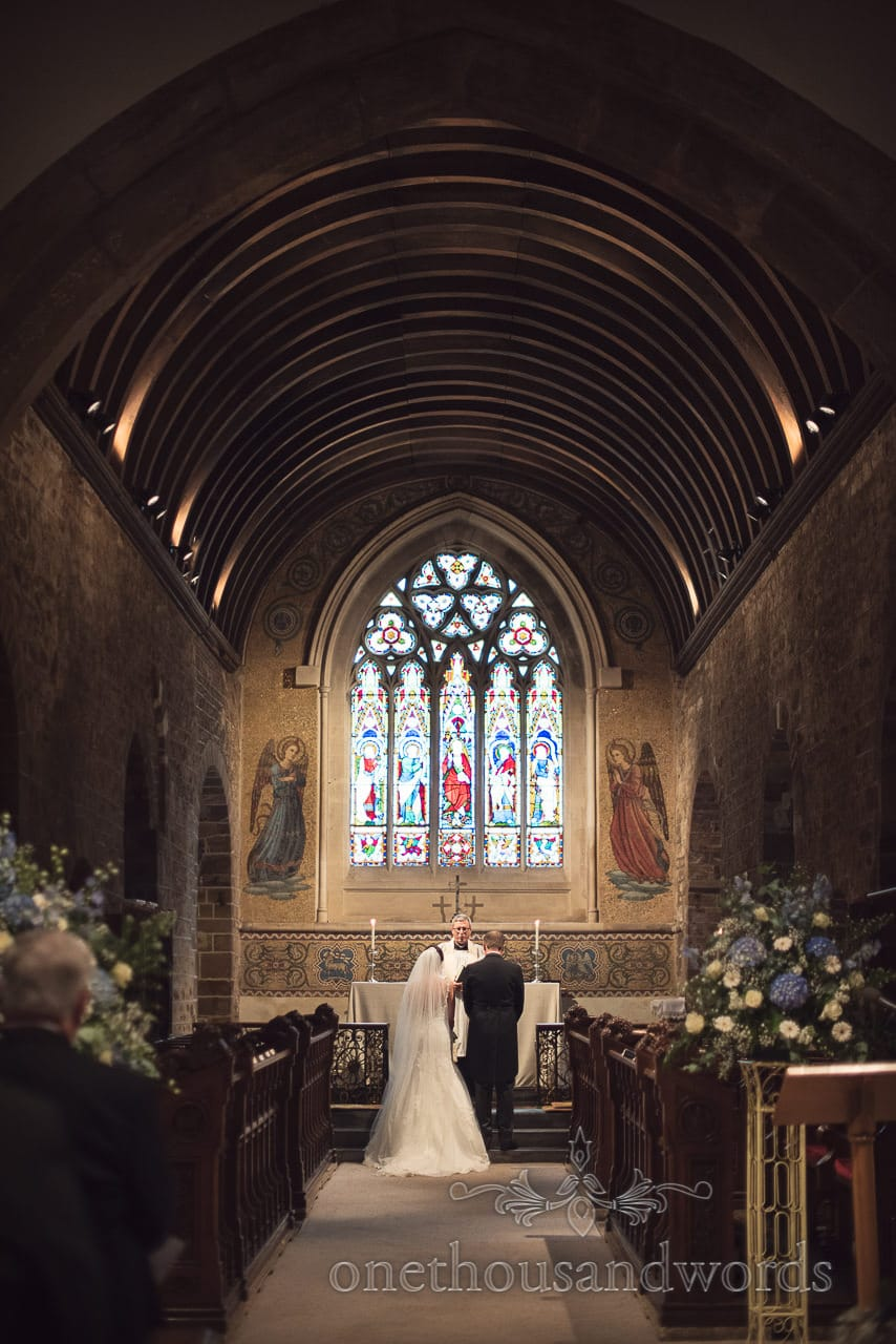Blessing of marriage in Norman Church Wedding Photographs