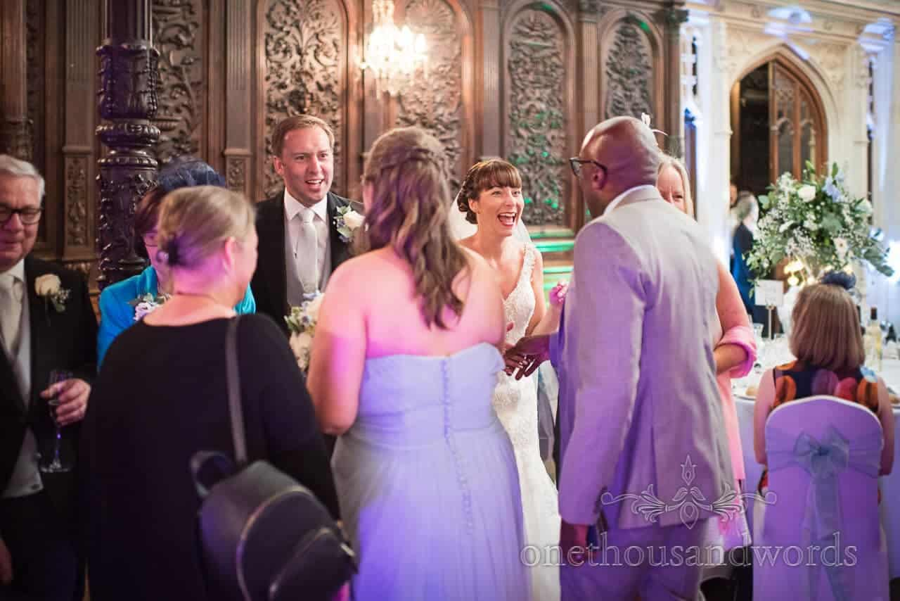 Bridal party receiving line at Canford School Wedding