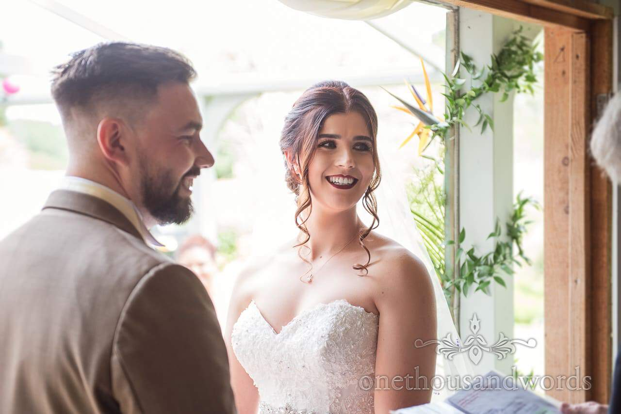 Bride and groom during ceremony at The Old Vicarage Wedding Photographs
