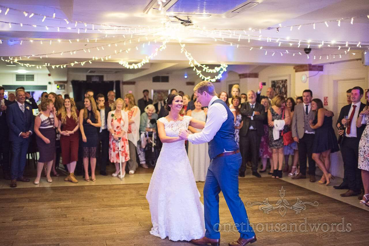 Bride and Groom take their first dance at The Italian Villa Wedding venue